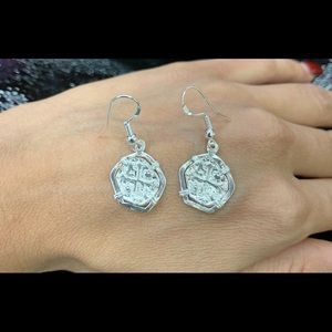 Atocha silver coin dangle earrings